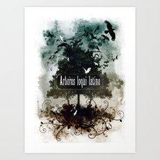arbores loqui latine Art Print