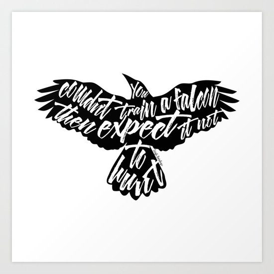 Six Of Crows Falcon Design Art Print By Evie Seo Society6