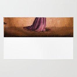 Girl in purple dress, Edwardian style  Rug