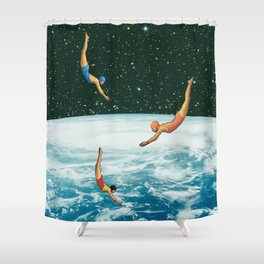 Space jumps Shower Curtain