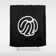 babble · negative ⎌ Shower Curtain