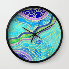 Tangle lagoon Wall Clock