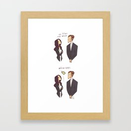 One Holmes, one Watson, ONE CLYDE Framed Art Print