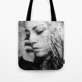 Another World - surreal dreamy portrait, woman nature photo, tree nature portrait Tote Bag