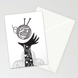 Yarn Love - Black Stationery Cards