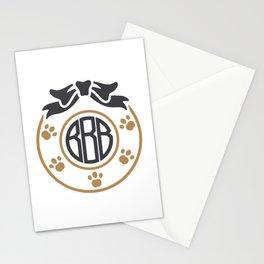 dog monogram Stationery Cards