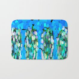 Blue Waterfall Teardrops Bath Mat