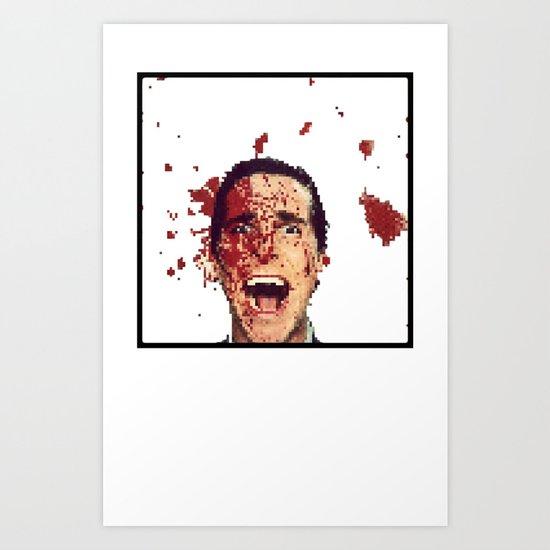 8-Bitman Art Print
