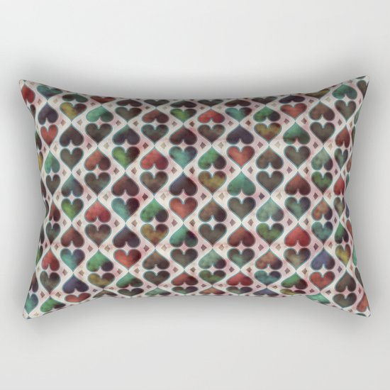 Colorful Love Pattern XIV Rectangular Pillow