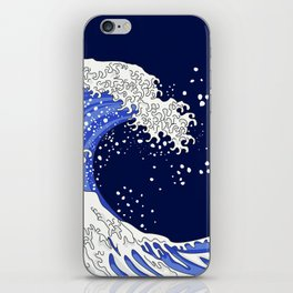 Great Blue Wave iPhone Skin