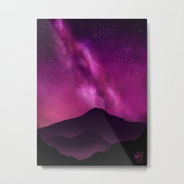 Shining Bright- Purple Galaxy Metal Print
