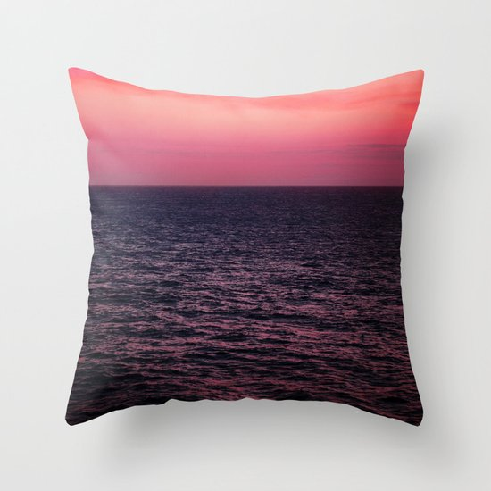 Pretty Pink Sunset Throw Pillow