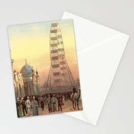 Ferris Wheel at Sunset in Chicago 1893 Stationery Cards