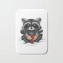 Raccoon with Hot Chocolate Bath Mat