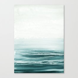 hazy emerald sea Canvas Print