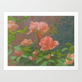Pink Roses Painting Art Print
