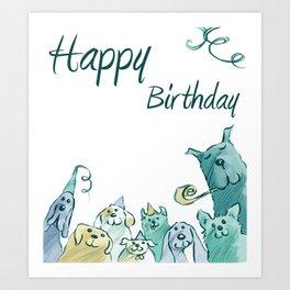 Dog Birthday Art Print