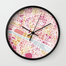 Paris map Wall Clock