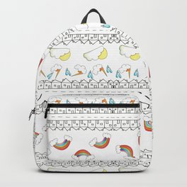 Sunshine Showers and Rainbows on Happy Street Backpack
