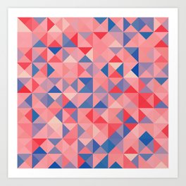 colorful Triangles 1 Art Print