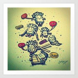 Life, Touch, Love, Cut, Sleep... Art Print