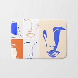 mariage de formes et de couleurs. Bath Mat