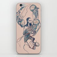 jellyfish iPhone & iPod Skins featuring Jellyfish by Huebucket