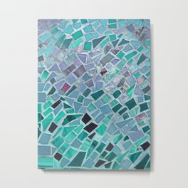 Energy Mosaic Metal Print
