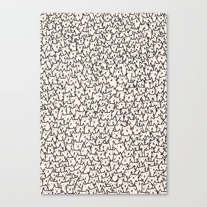 A Lot of Cats Canvas Print