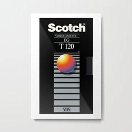 SCOTCH VHS Metal Print