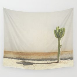 Cactus - Taupe Wall Tapestry