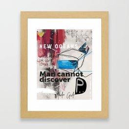 Andre Gide quote Framed Art Print