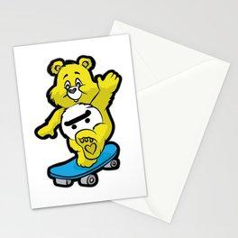 TEDDY BEAR SKATEBOARD Kickflip Ollie 360 Longboard Stationery Cards