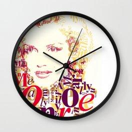 Typographic image Monroe Wall Clock