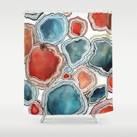 agate Shower Curtains featuring AGATE by Kelsey Eckstrom