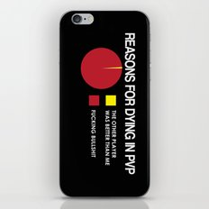Reasons for Dying in PVP iPhone & iPod Skin