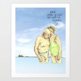 old couple Art Print