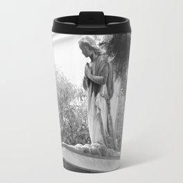 Old broken grave with angel Travel Mug