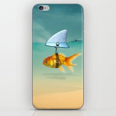 gold fish iPhone Skin