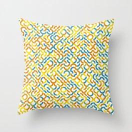 Rotated Arcs 01, Seed 2/31 Throw Pillow