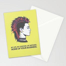 Mohawk punk guy Stationery Cards