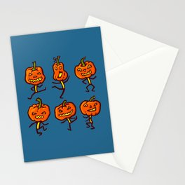 Six dancing pumpkins Stationery Cards