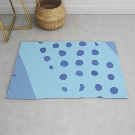 Modern Contemporary Monochromatic Dotted Background in Blue Color GC-118-5 Rug