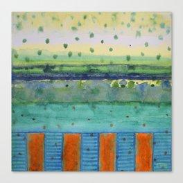 Orange Posts With Landscape Canvas Print
