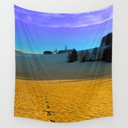 Colorful winter wonderland scenery | landscape photography Wall Tapestry