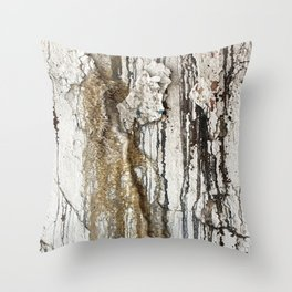 White Decay II Throw Pillow