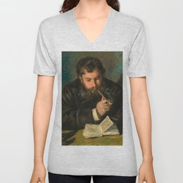Pierre-Auguste Renoir - Claude Monet Unisex V-Neck