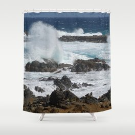 Caribbean wave Shower Curtain