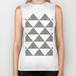 Cement White Triangles Biker Tank