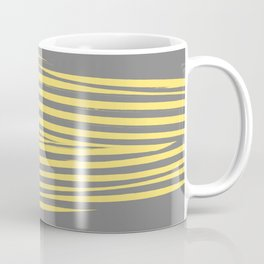 Yellow & Gray Stripes Coffee Mug